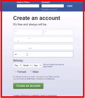www.facebook.com sign up