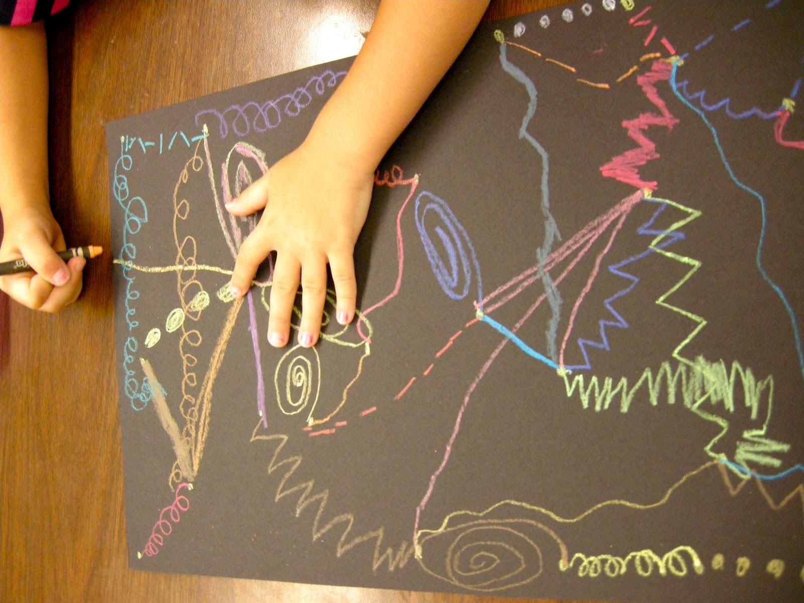 Zilker Elementary Art Class First Grade Lines
