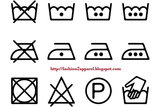 Care Label Symbols For Clothing And Textile Products Fashion2apparel