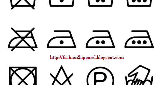 Care Label Symbols for Clothing and Textile Products
