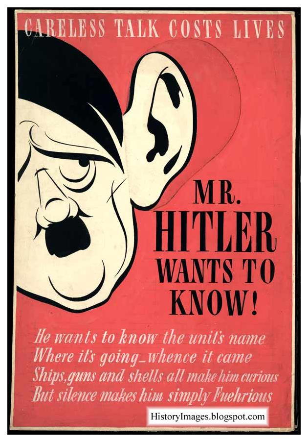"""Mr. Hitler wants to know."" This poster became popular across the Atlantic"
