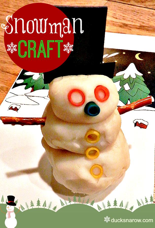 #kidscrafts #snowmancraft #homemadeplaydough