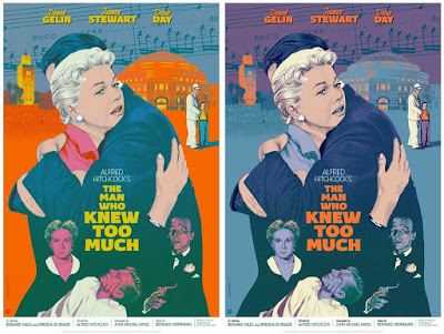 The Man Who Knew Too Much Movie Poster Screen Print by Jack Durieux x Alfred Hitchcock x Mad Duck Posters