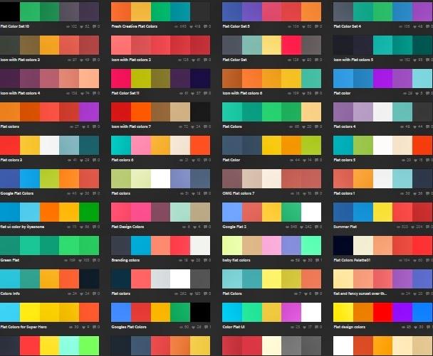 Stmf Stencil Combinacion De Colores Planos Para Vuestros Disenos - Colores-combinacion
