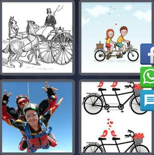 4 Fotos 1 Palabra Bicicleta Doble Carruaje Caballos Solucion 6
