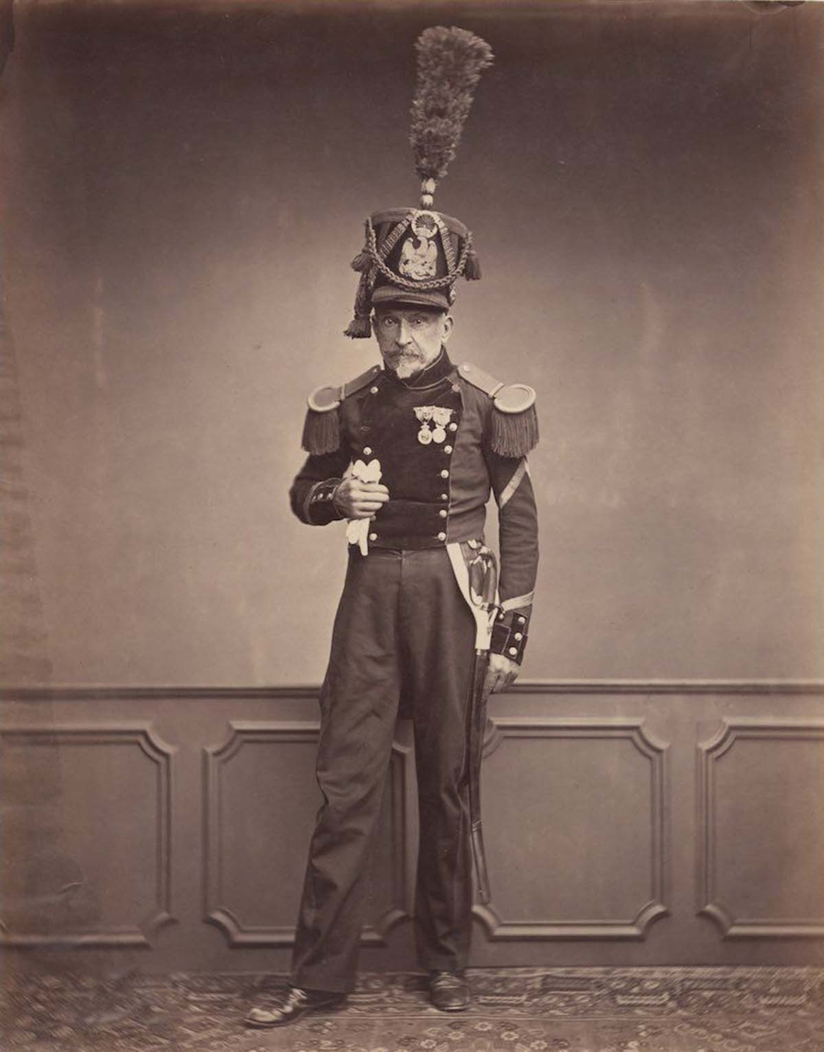 Monsieur Lefebre, a sergeant in the 2nd Regiment of Engineers in 1815.