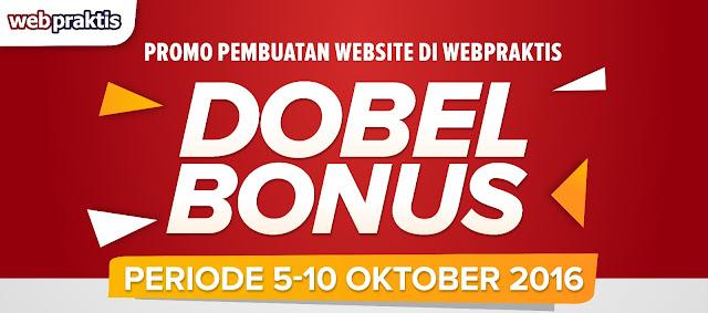 PROMO BIKIN WEBSITE TOKO ONLINE 5 - 10 OKT 2016 - DOUBLE BONUS