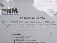 Lowongan Kerja PNM Cabang Padang Security