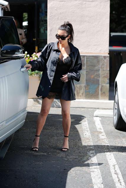 Kim Kardashian in Short Dress in Westlake Village