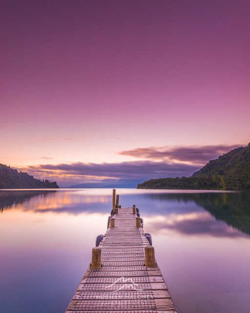 purple dawn tarawera jetty