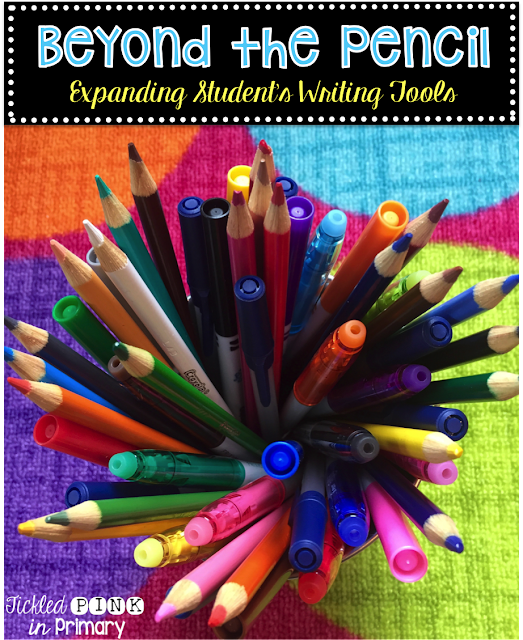 Let students use other writing tools than just pencils