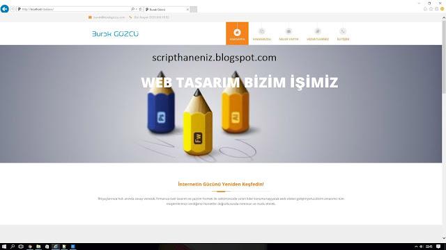 Php Web Tasarım Ve Ajans Scripti İndir 2017