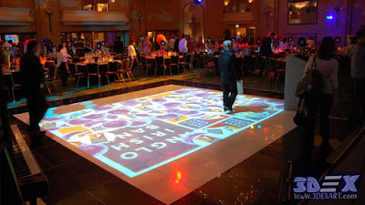 interactive floor projector for wedding festival and events, live system floor