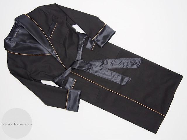 morgenmantel luxus für herren schwarz seide baumwolle edel lang elegant klassisch gefüttert XS S M L XL XXL XXXL