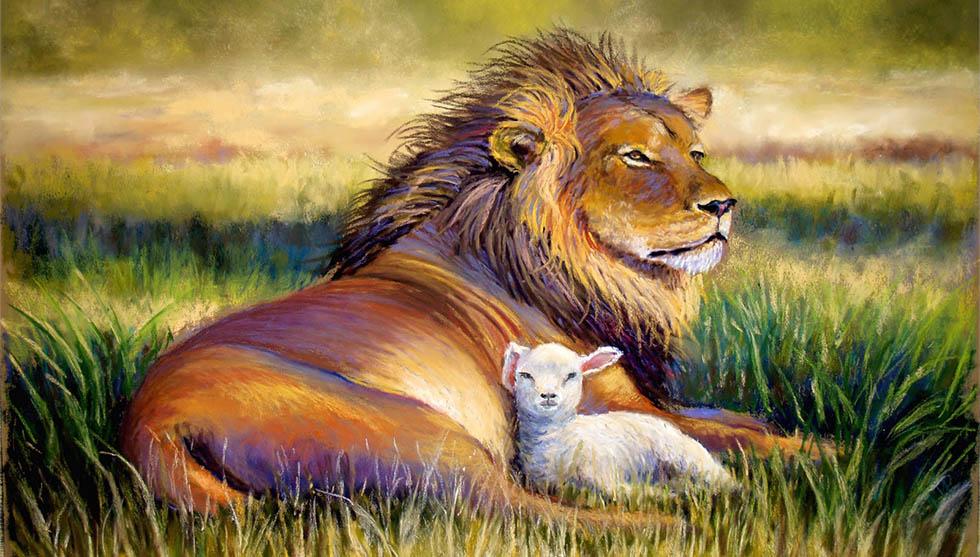 Картинки лев и бараны