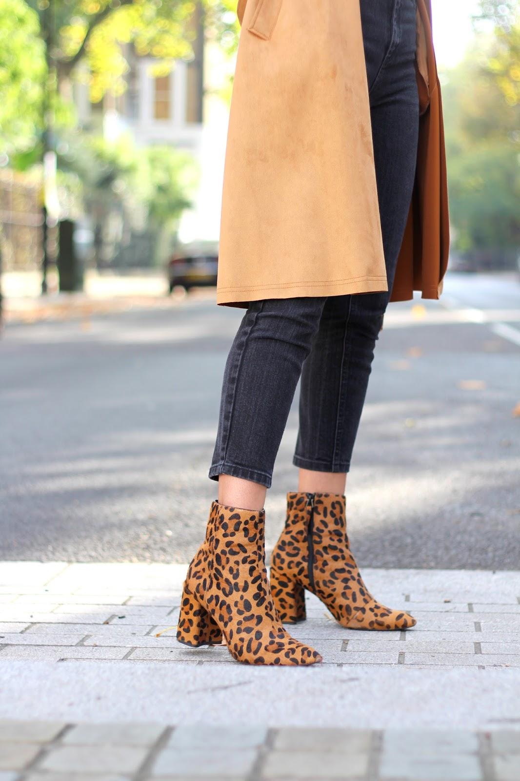 leopard print ankle boots topshop