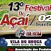 Programação oficial do XIII Festival do Açaí da comunidade do Broca