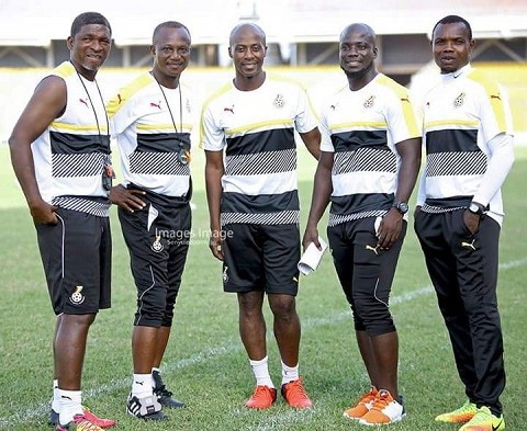 Ghana National Football Team Coach, Mr. Kwesi Appiah and His Technical Team.