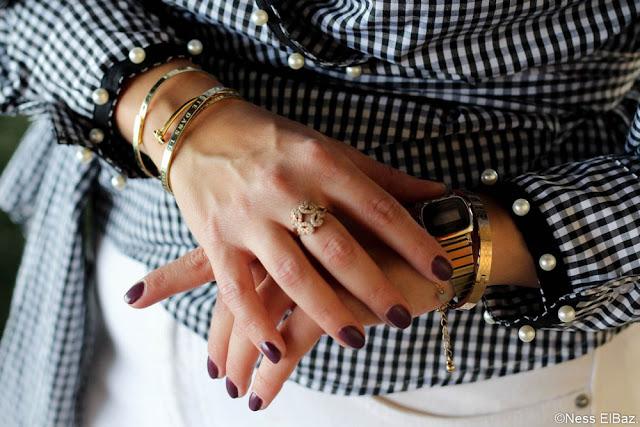 photo bracelets joncs accumulation