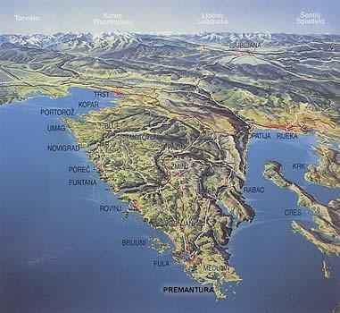 itre colori dell'Istria