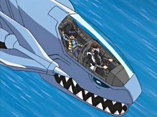 Jet dragon blanco de ojos azules, podía llevar a Seto y a su hermano a donde fuera