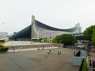 Yoyogi National Stadium Gymnasium No.1 viewed from the south, Tokyo, Japan.