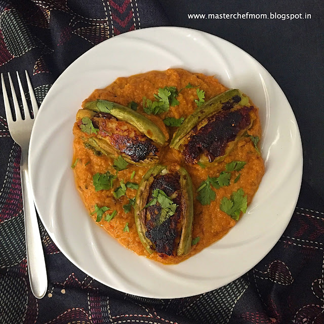 Potoler Dolma | Bengali Style Stuffed Pointed Gourd Curry
