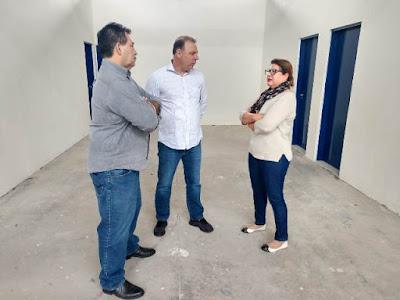 Prefeito Gilson Fantin visita obras em fase de conclusão em escolas e creches municipais