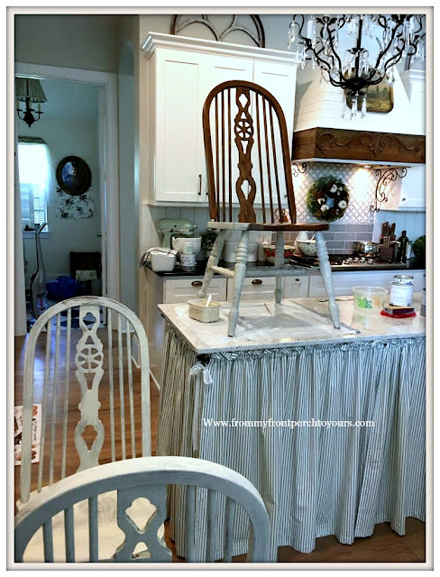 French Country-Farmhouse-Dining Room-Chalk Paint-Chair-Makeover-From My Front Porch To Yours