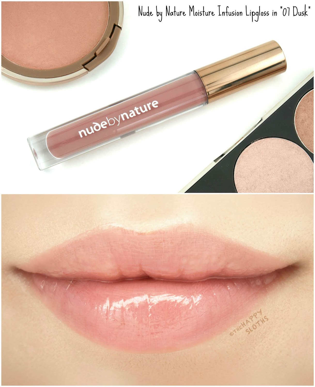 "Nude by Nature | Moisture Infusion Lipgloss in ""07 Dusk"": Review and Swatches"
