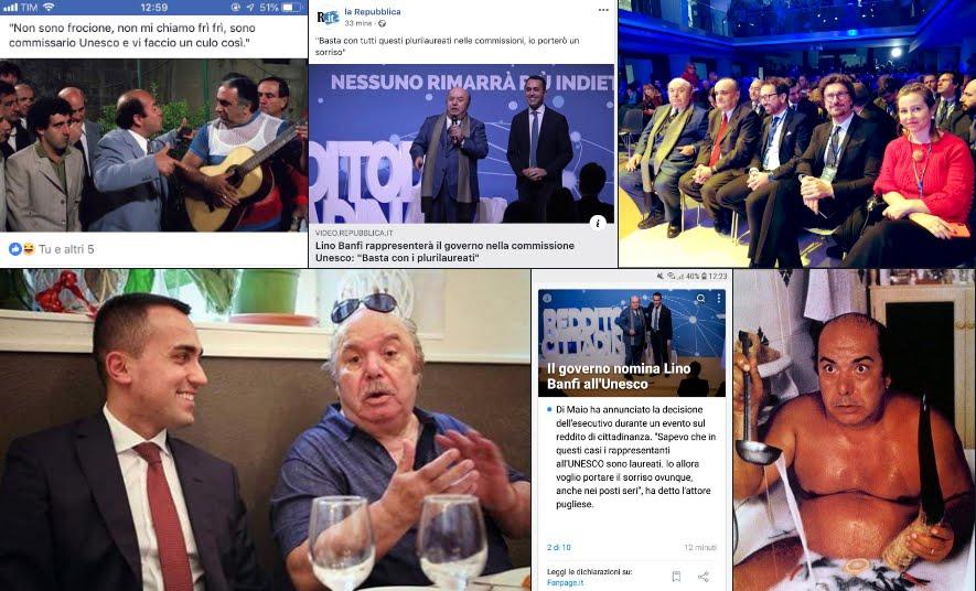 """Lino Banfi all'Unesco, rappresenterà l'Italia: """"Porterò il sorriso""""."""