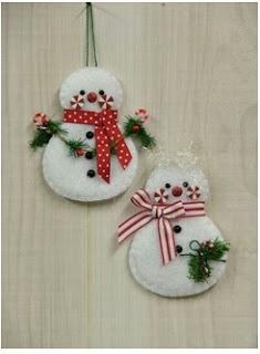 Adornos navideños para colgar en las paredes puertas y ventanas con fieltro