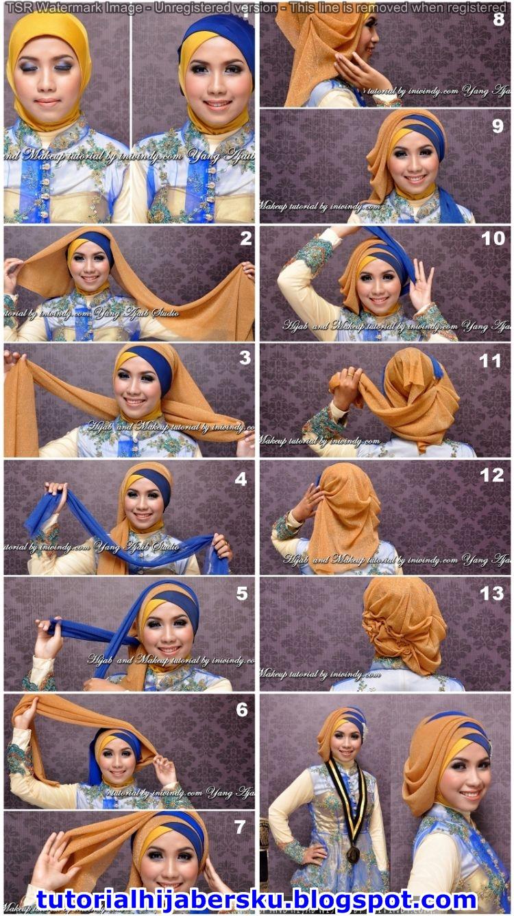 Tutorial Hijab Pashmina Muka Oval Simple Dan Mudah Terbaru 2017