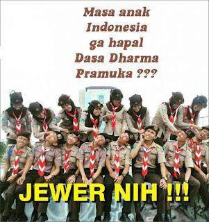 Meme Pramuka Jewer
