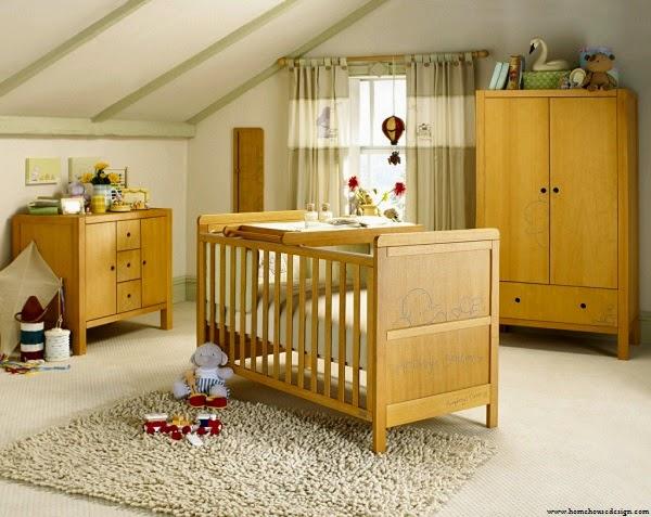 Chambre bébé garçon moderne en bois