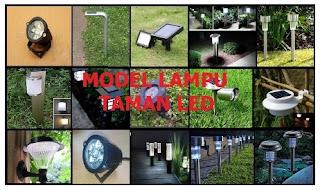 Model lampu taman led