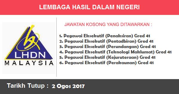 Jawatan Kosong di Lembaga Hasil Dalam Negeri Malaysia (LHDNM)