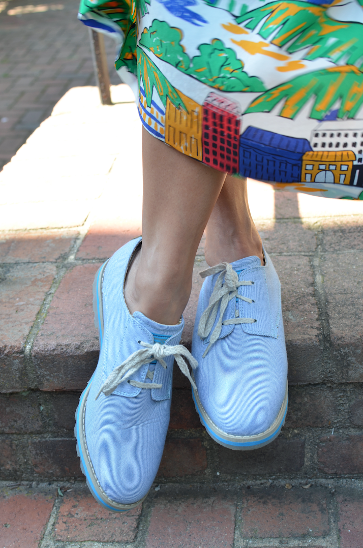 DENIM OXFORDS SHOES