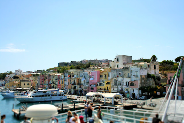 mare, acqua, porto, Ischia, turisti, case, cielo