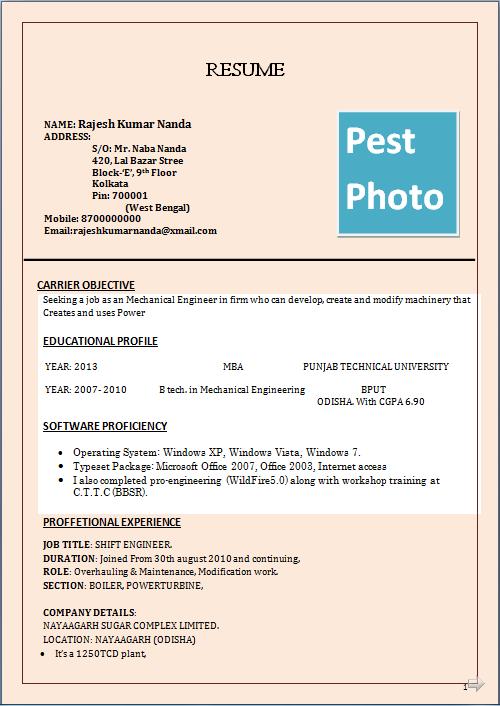 resume blog co  resume sample for mba  u0026 b tech  in