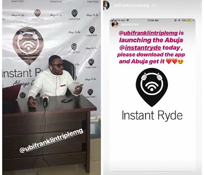 TripleMG Boss Ubi Franklin Launches Thriving Uber Business In Abuja