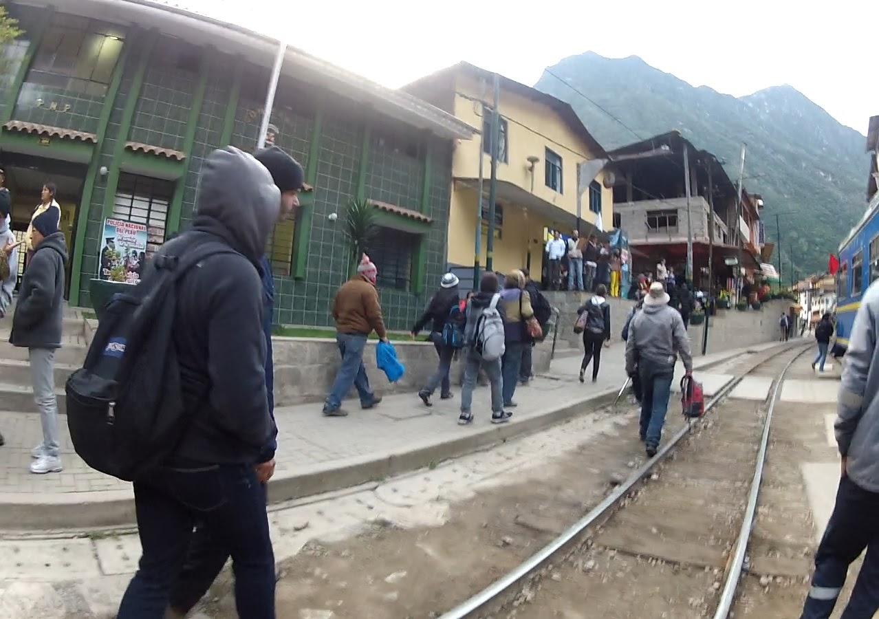 Chegada em Ollantaytambo / Peru.