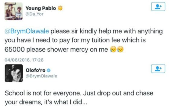 po Daady Freeze Defends Brymo, Lists Successful People Who Dropped Out Of School Entertainment