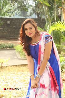Actress Ashwini Stills in Blue Chudidar at Ameerpet Lo Release Press Meet  0192.JPG