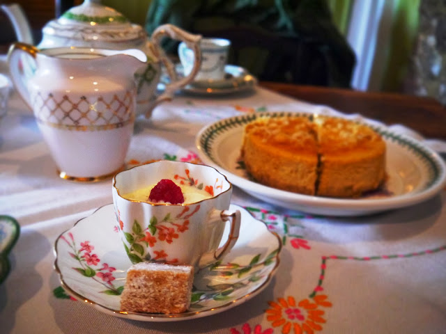 Vintage Tea Party - Lemon Posset and Cheesecake