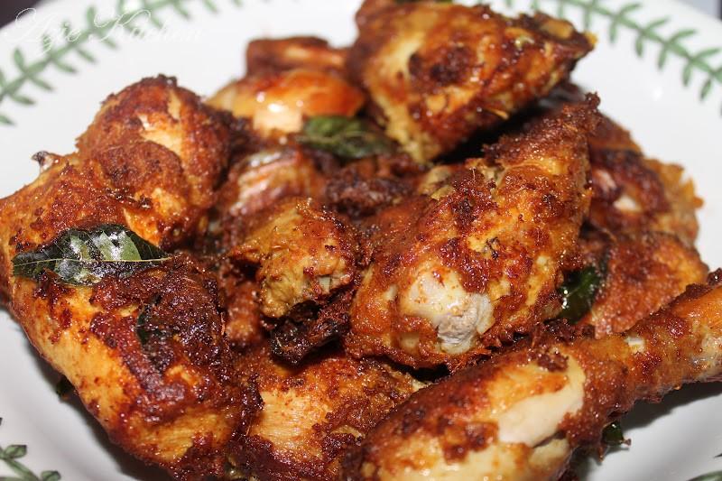 nasi lemak  ayam goreng berempah azie kitchen Resepi Ayam Masak Lemak Ketumbar Jintan Enak dan Mudah