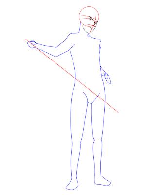 menggambar sasuke uchiha black costume langkah 8