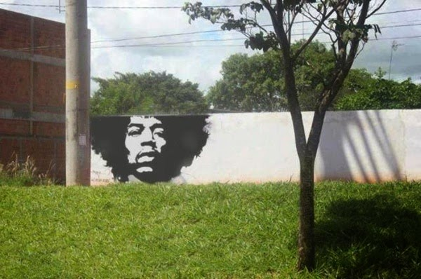 Funny Jimmy Hendrix Graffiti Joke Picture