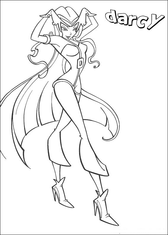 The winx club coloring pages ~ Fun Coloring Pages: Winx Coloring Pages 2 - Flora, Darcy ...