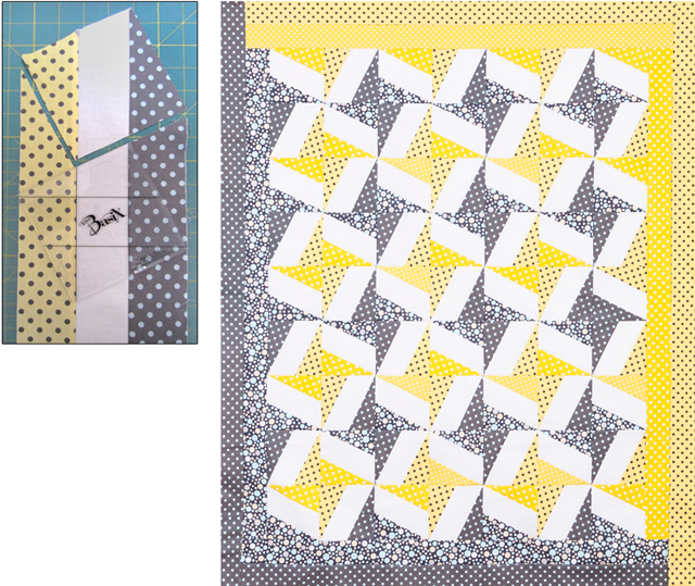 BasiX Template - Quilting Template - Bonus Pattern - Three Strip Quilt